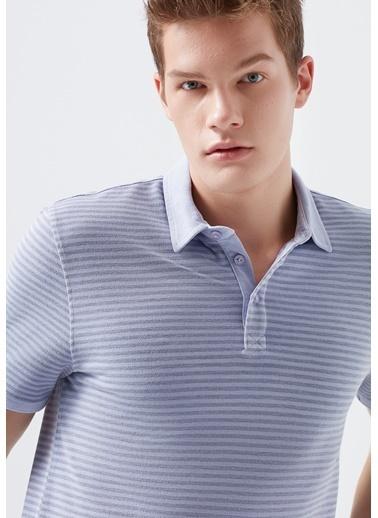 Mavi Lila Polo Tişört Pembe